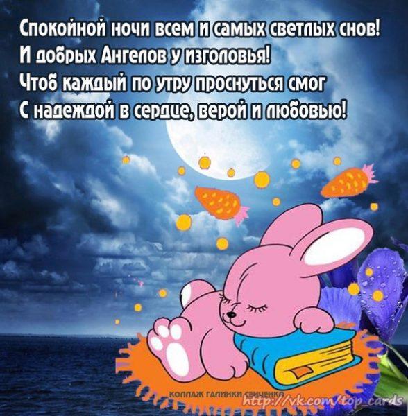 Шуточные пожелания доброй ночи друзьям